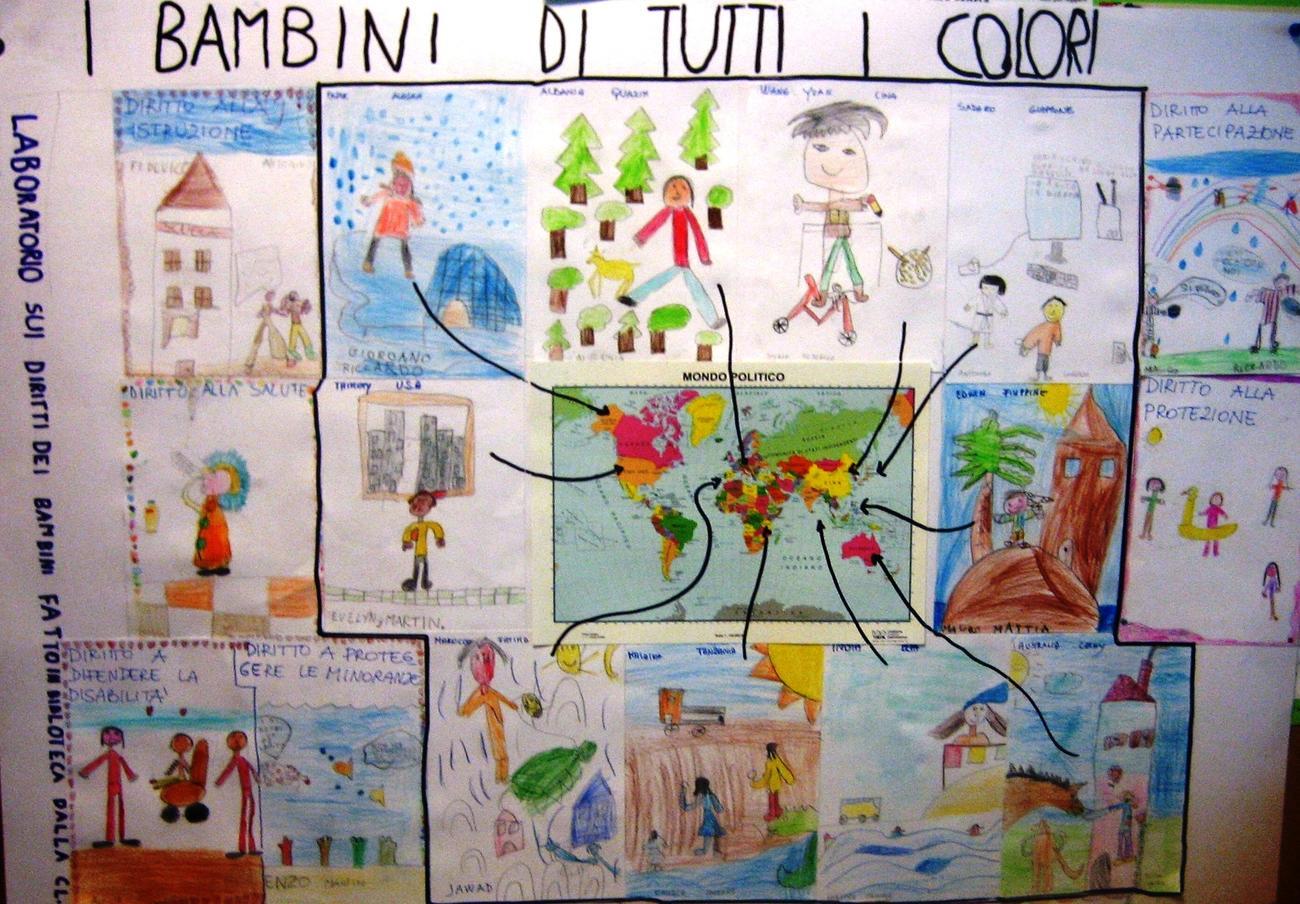 I diritti dei bambini di tutti i colori: lettura, riflessione e creatività in biblioteca