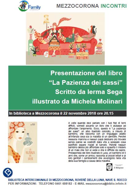 """Presentazione del libro """"La pazienza dei sassi"""" di Ierma Sega"""