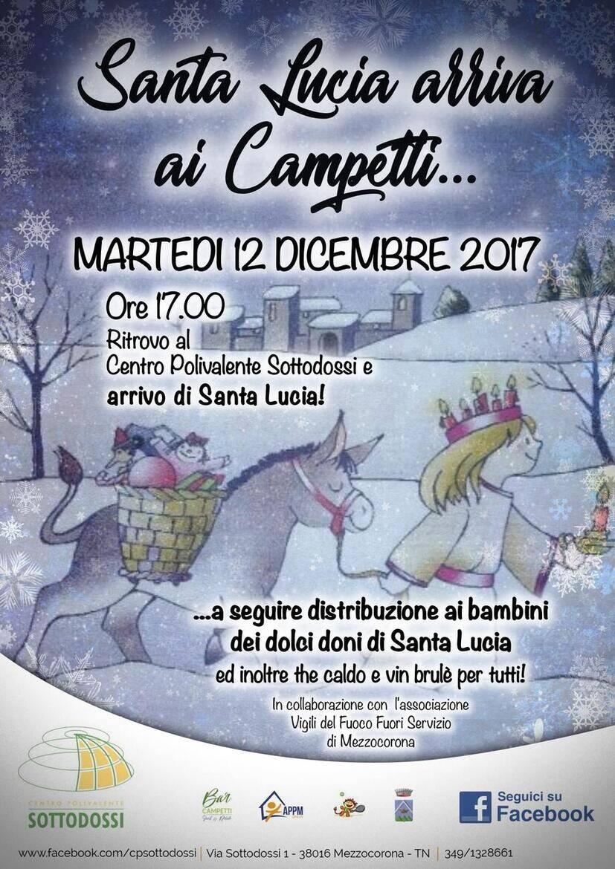 Santa Lucia Calendario.Santa Lucia Arriva Ai Campetti Calendario Eventi